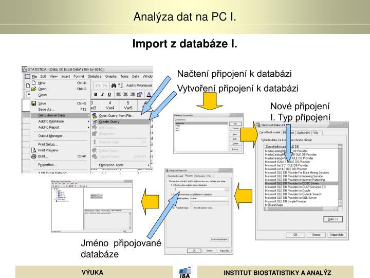 Import z databáze I.