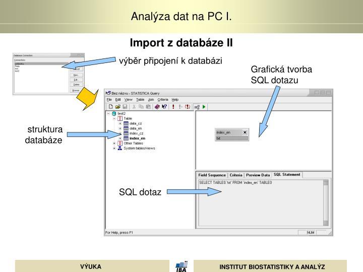 Import z databáze II