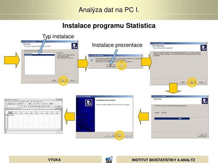 Instalace programu Statistica