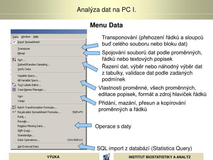 Menu Data