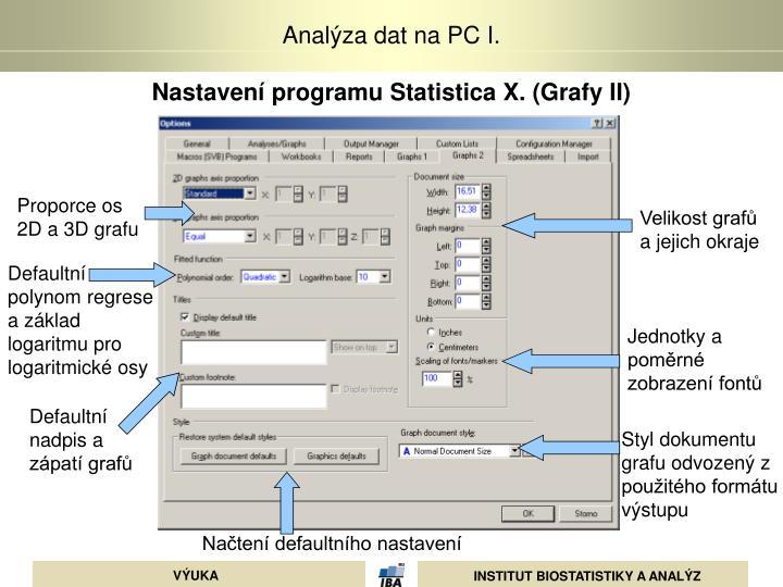 Nastavení programu Statistica X. (Grafy II)