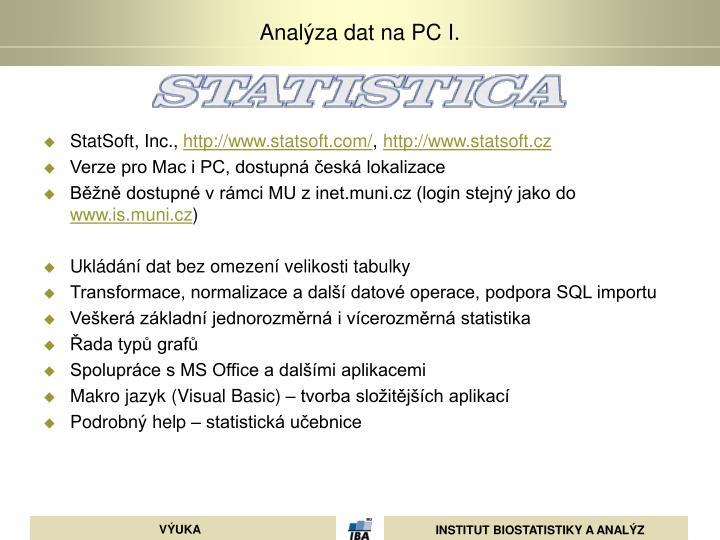 StatSoft, Inc.,