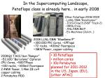 in the supercomputing landscape petaflops class is already here in early 2008