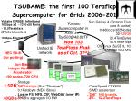 tsubame the first 100 teraflops supercomputer for grids 2006 2010