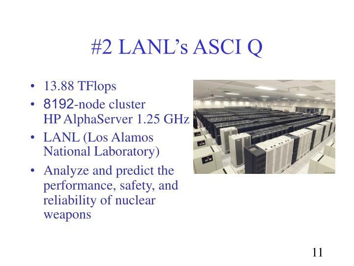 #2 LANL's ASCI Q