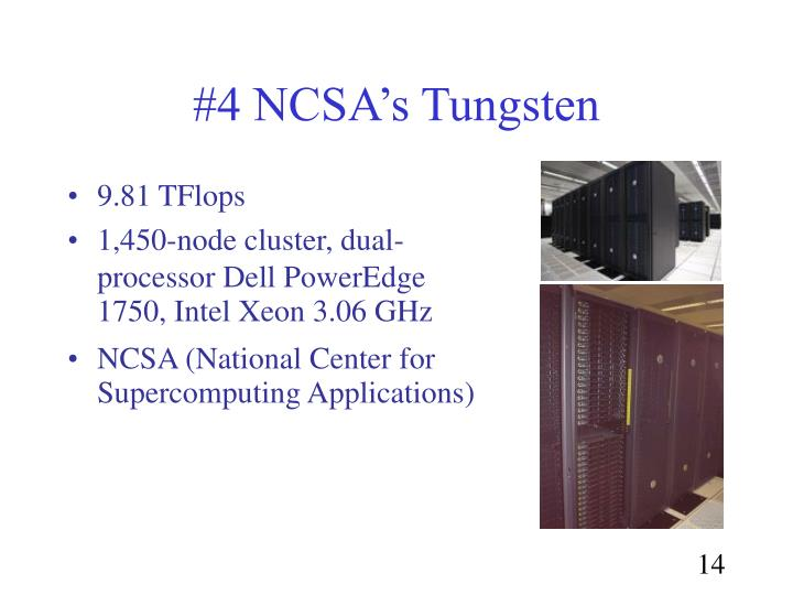 #4 NCSA's Tungsten