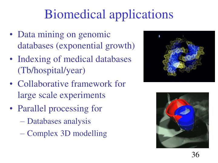 Data mining on genomic databases (exponential growth)
