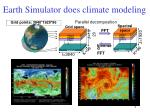 earth simulator does climate modeling