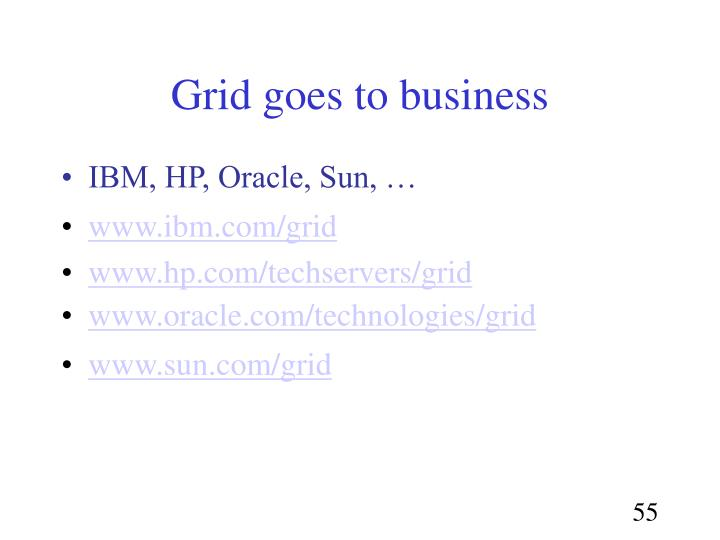 Grid goes to business