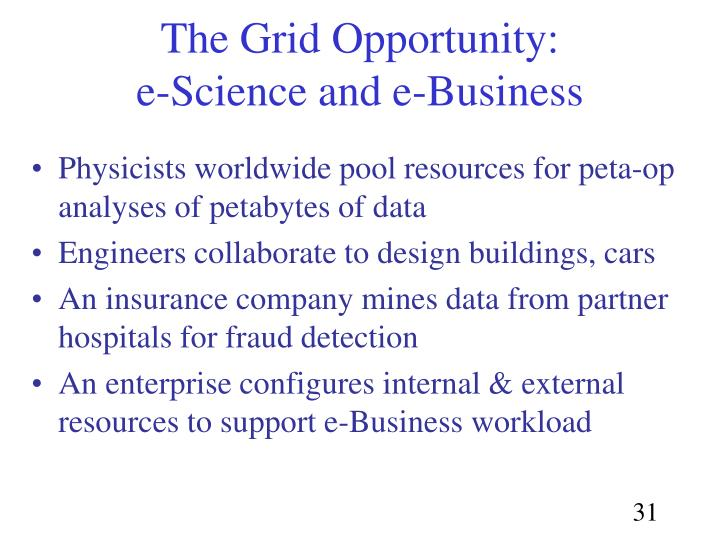 The Grid Opportunity: