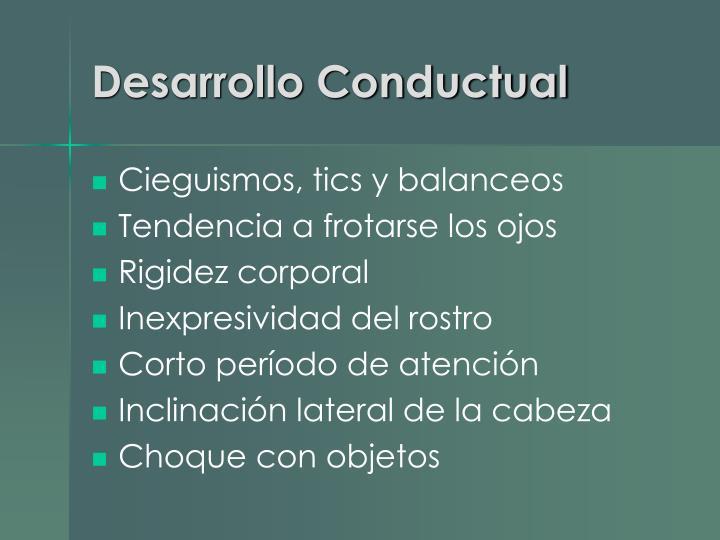 Desarrollo Conductual