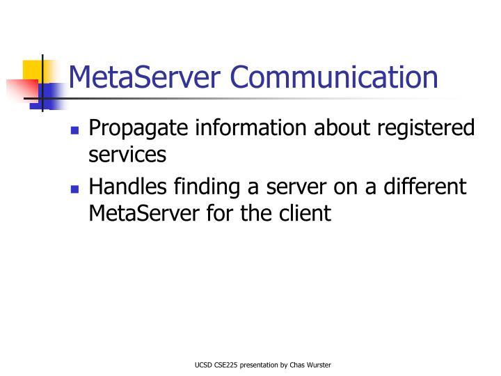 MetaServer Communication