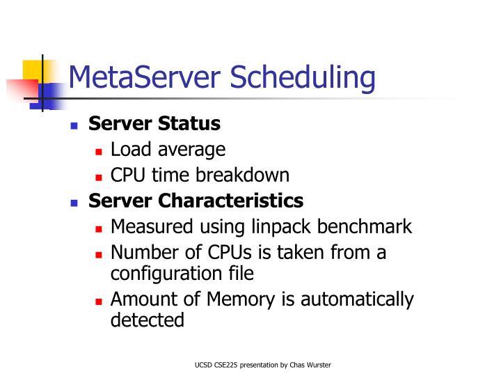 MetaServer Scheduling