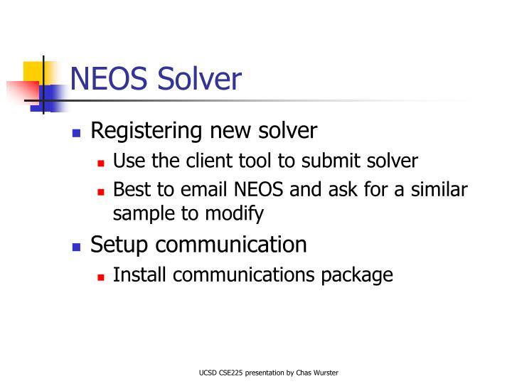 NEOS Solver