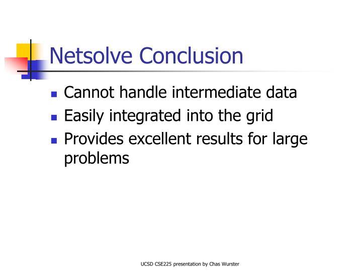 Netsolve Conclusion