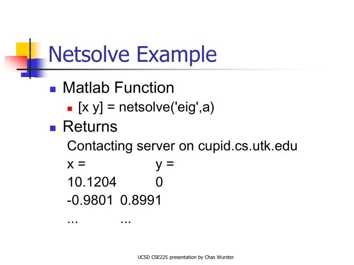 Netsolve Example