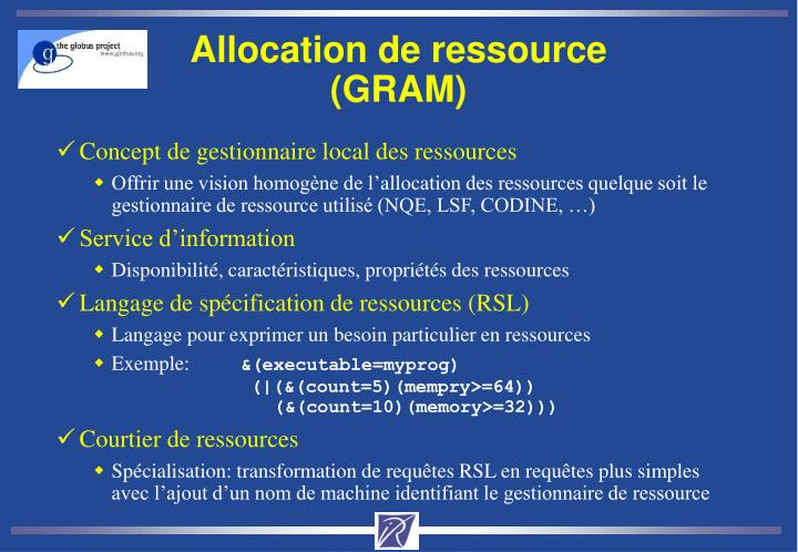 Allocation de ressource