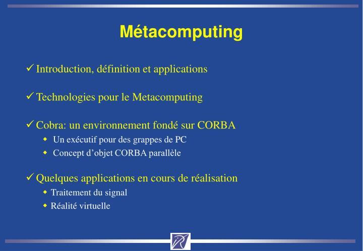 Métacomputing