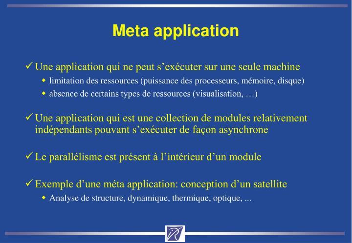 Meta application