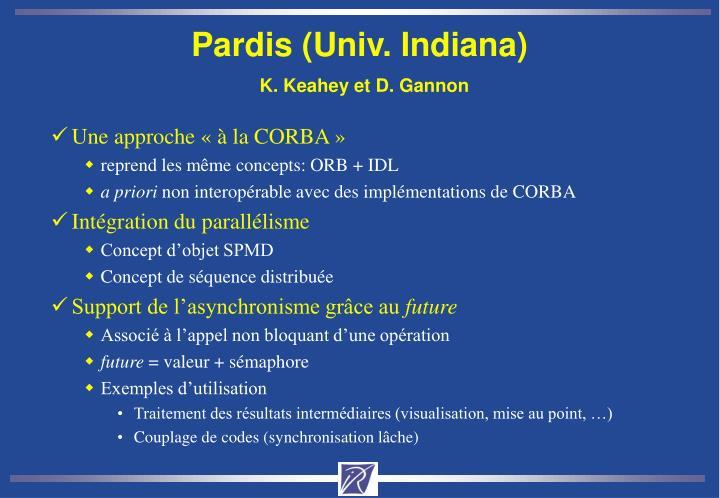 Pardis (Univ. Indiana)