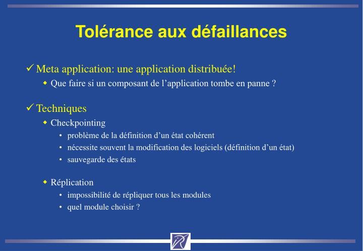 Tolérance aux défaillances