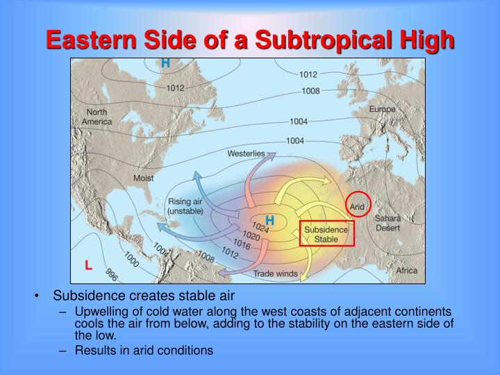 Eastern Side of a Subtropical High