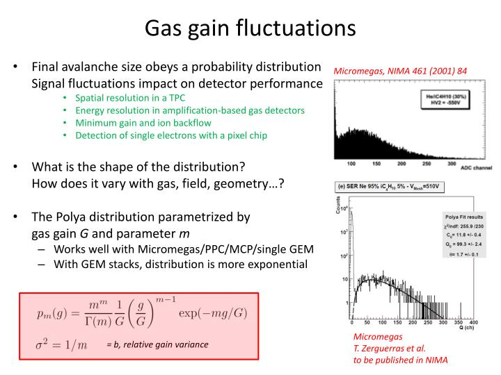 Gas gain fluctuations
