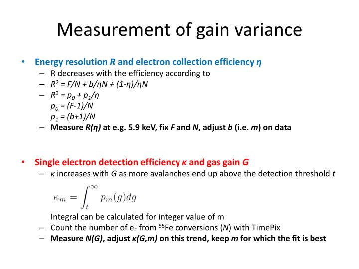 Measurement of gain variance