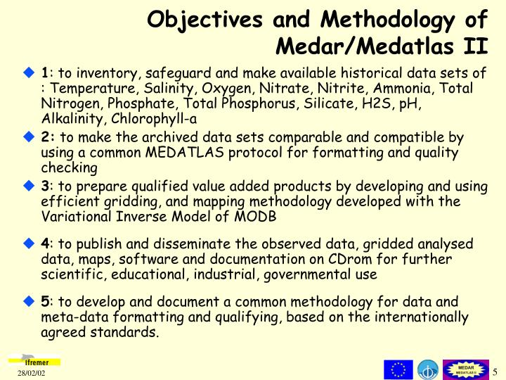Objectives and Methodology of Medar/Medatlas II