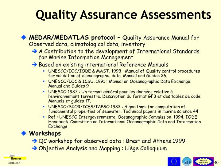 Quality Assurance Asses