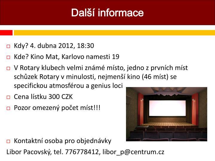Další informace