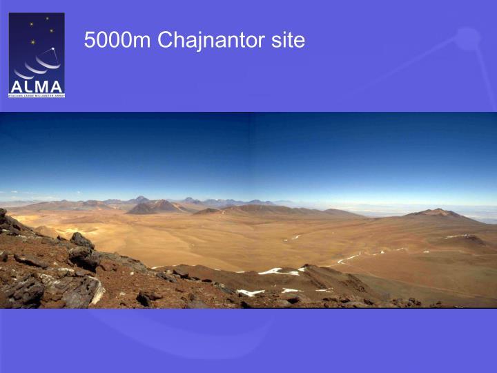 5000m Chajnantor site