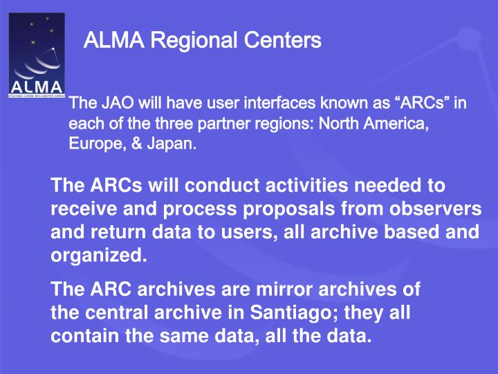 ALMA Regional Centers