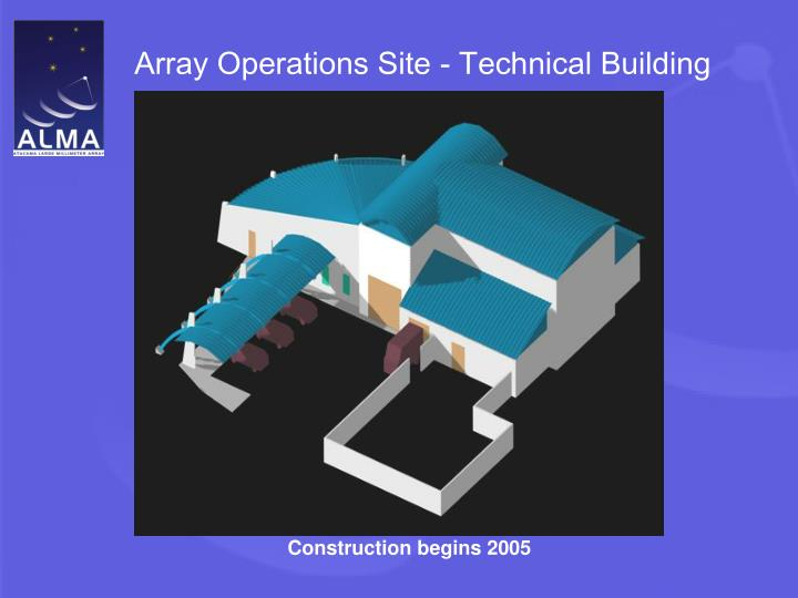 Array Operations Site - Technical Building