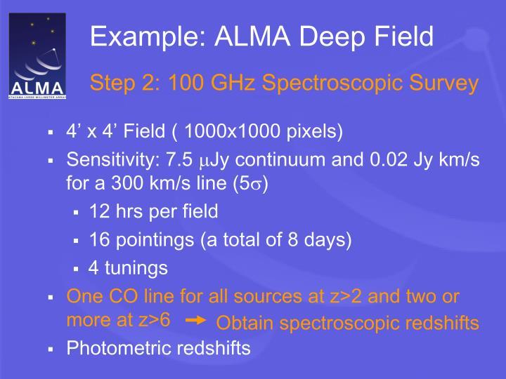 Example: ALMA Deep Field