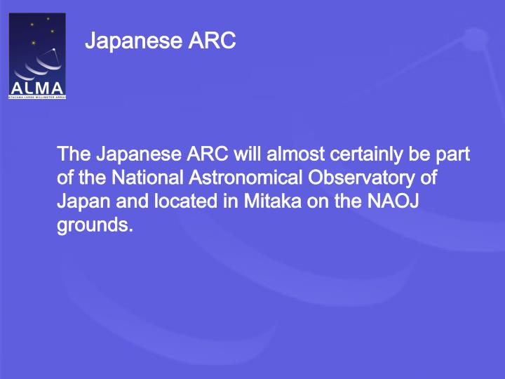 Japanese ARC