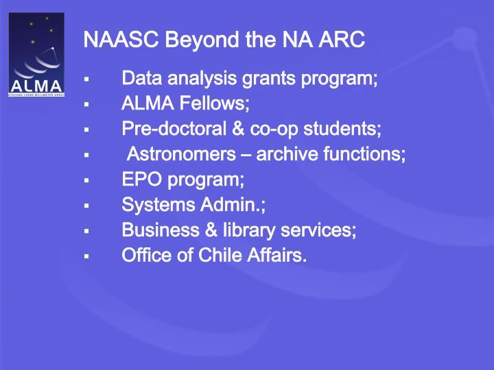 NAASC Beyond the NA ARC
