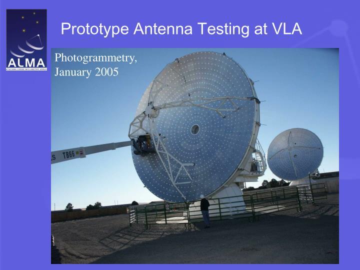 Prototype Antenna Testing at VLA