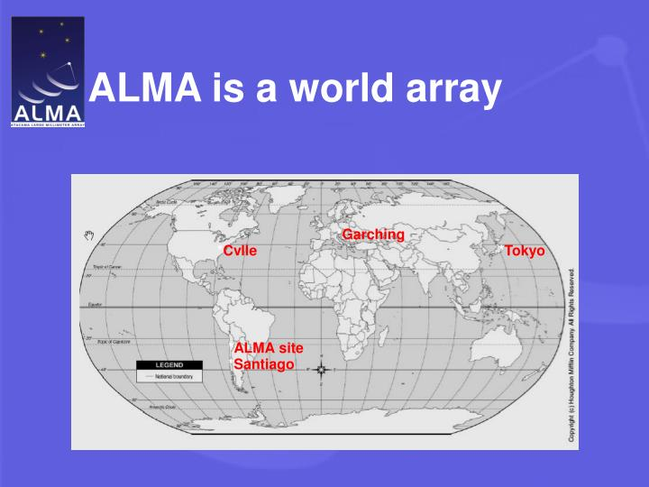 ALMA is a world array