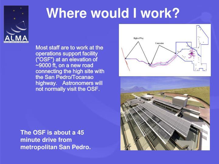 Where would I work?