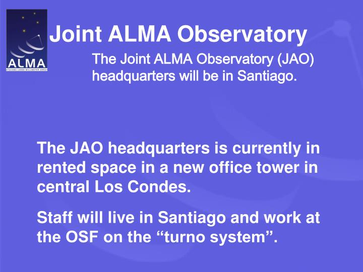Joint ALMA Observatory