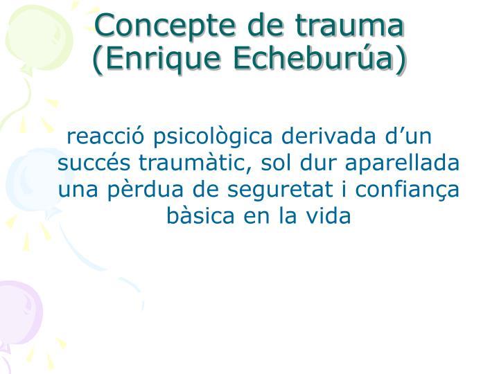 Concepte de trauma