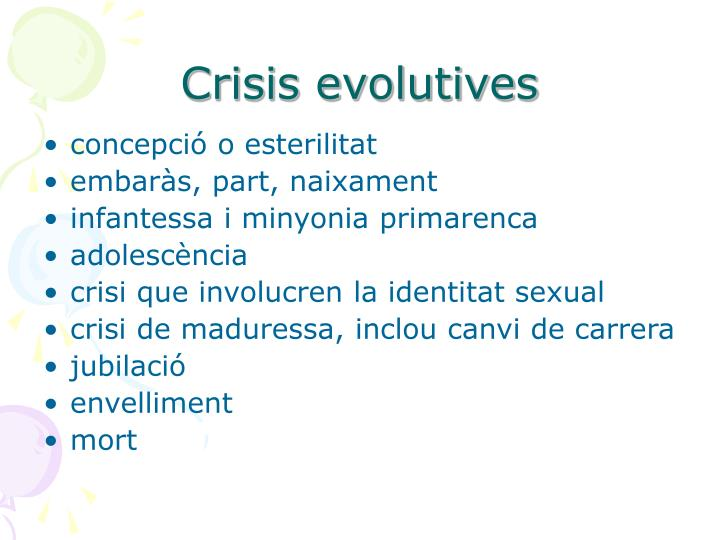 Crisis evolutives