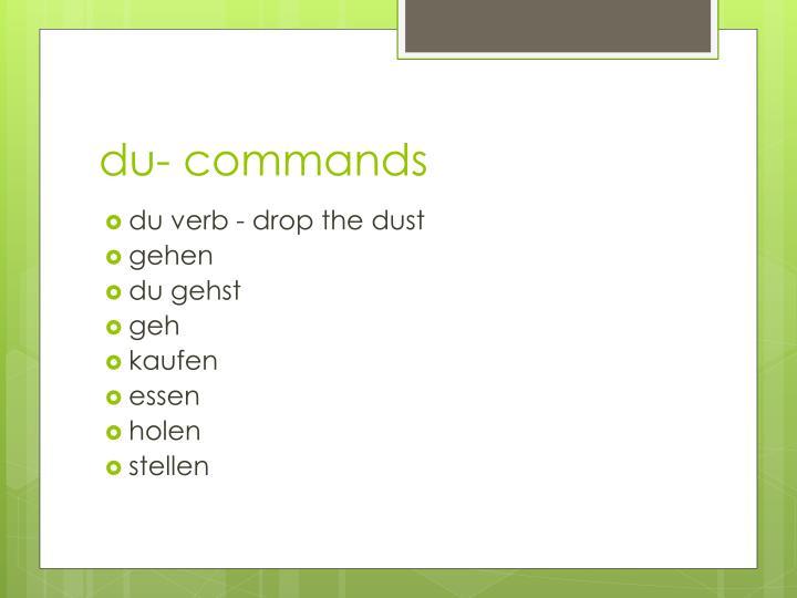 du- commands