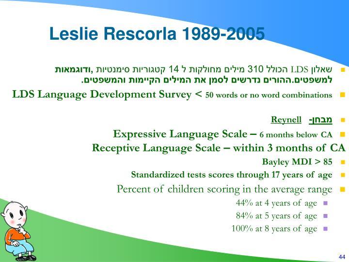 Leslie Rescorla 1989-2005