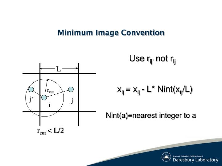 Minimum Image Convention