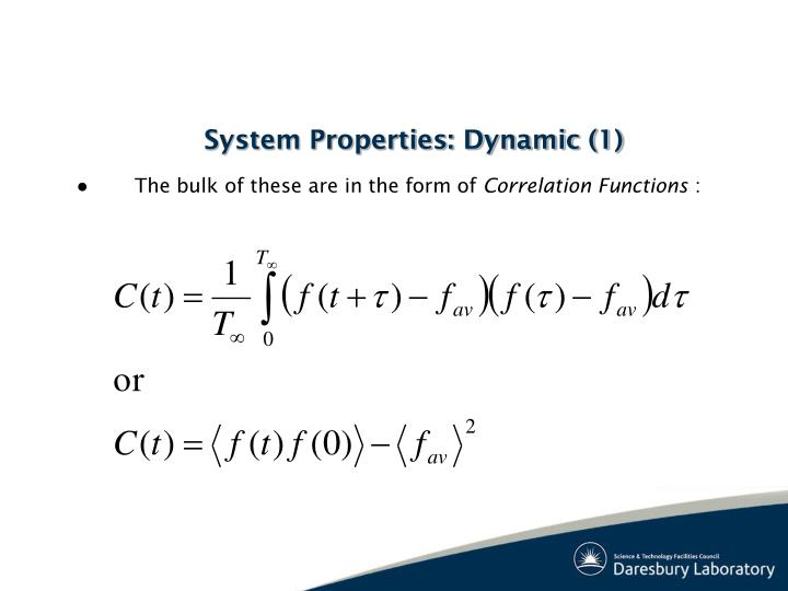 System Properties: Dynamic (1)