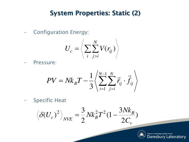 Configuration Energy: