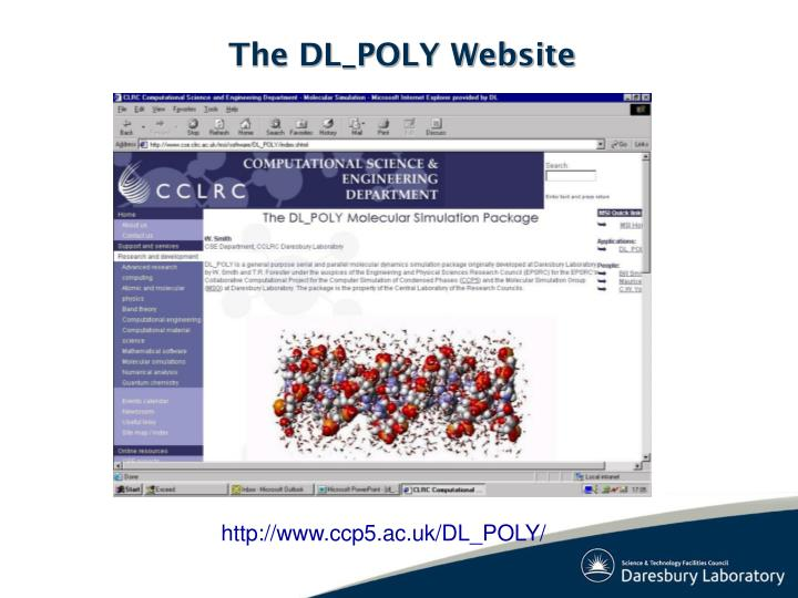 The DL_POLY Website