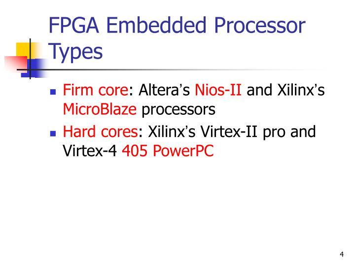 FPGA Embedded Processor Types